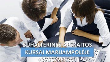 Buhalterinės apskaitos kursai Marijampolėje