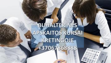 Buhalteriniai apskaitos kursai Kretingoje grupėse