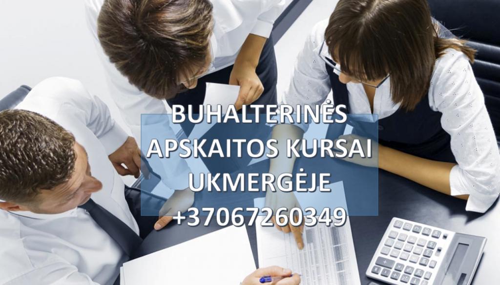Buhalteriniai apskaitos kursai Ukmergėje grupėse