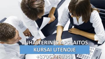Buhalteriniai apskaitos kursai Utenoje