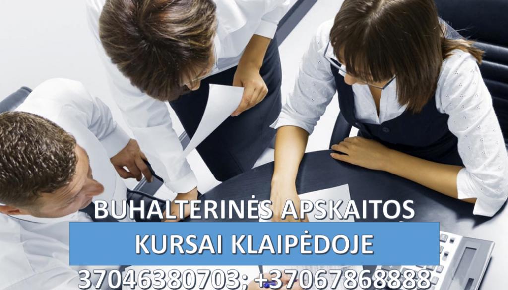 Buhalteriniai apskaitos kursai Klaipėdoje